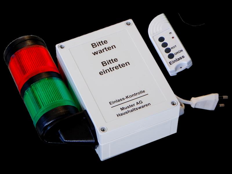 Einlass-Kontrolle Ampel für dem Detailhandel mit Funksender